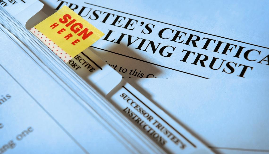 Documentos legales listos para firmar