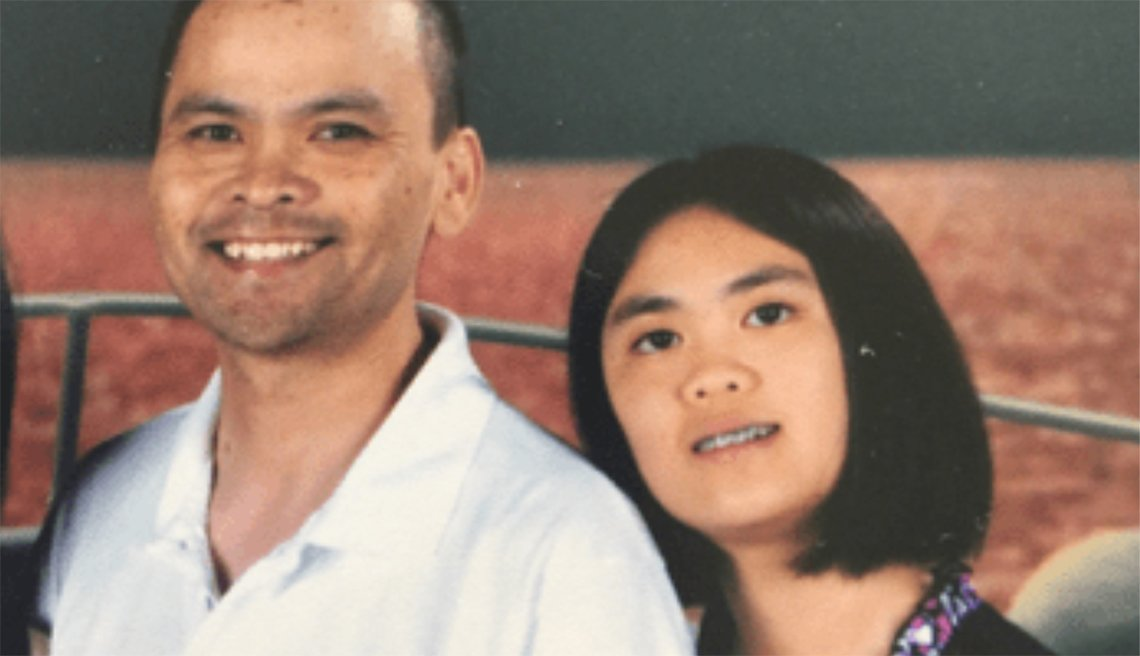 Caroline Cao with her father