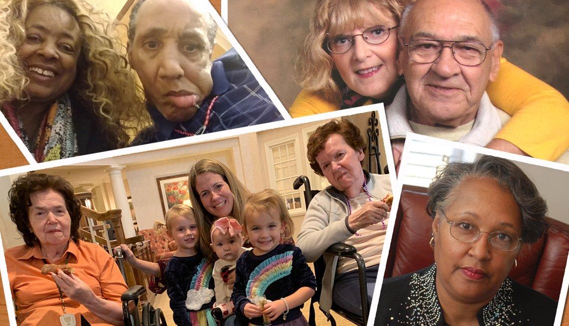 assortment of family photos