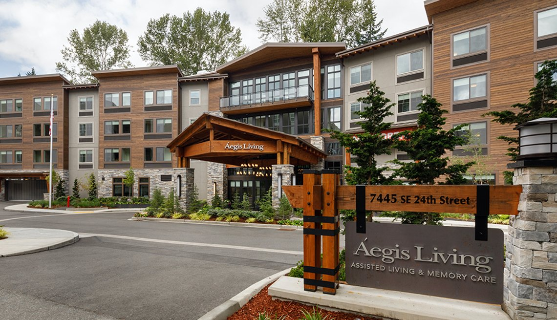 Outside of the aegis assisted living and memory care center