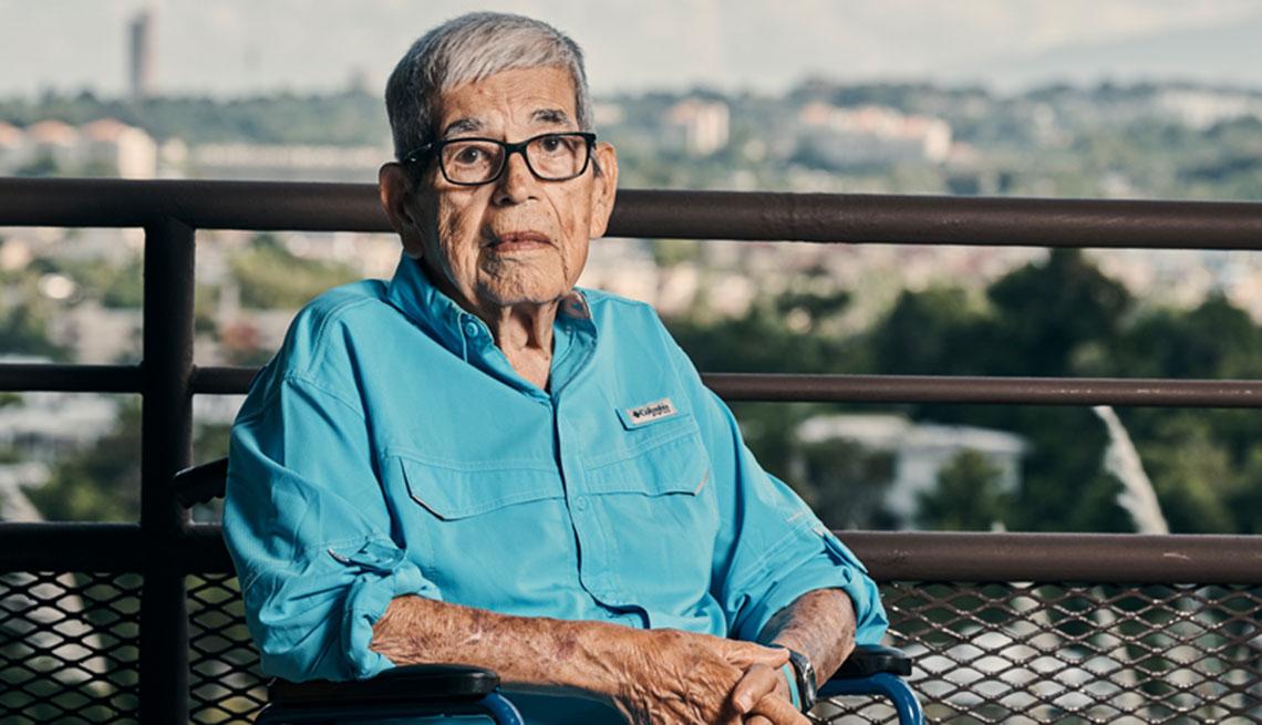 Don Alberto, a sus 89 años