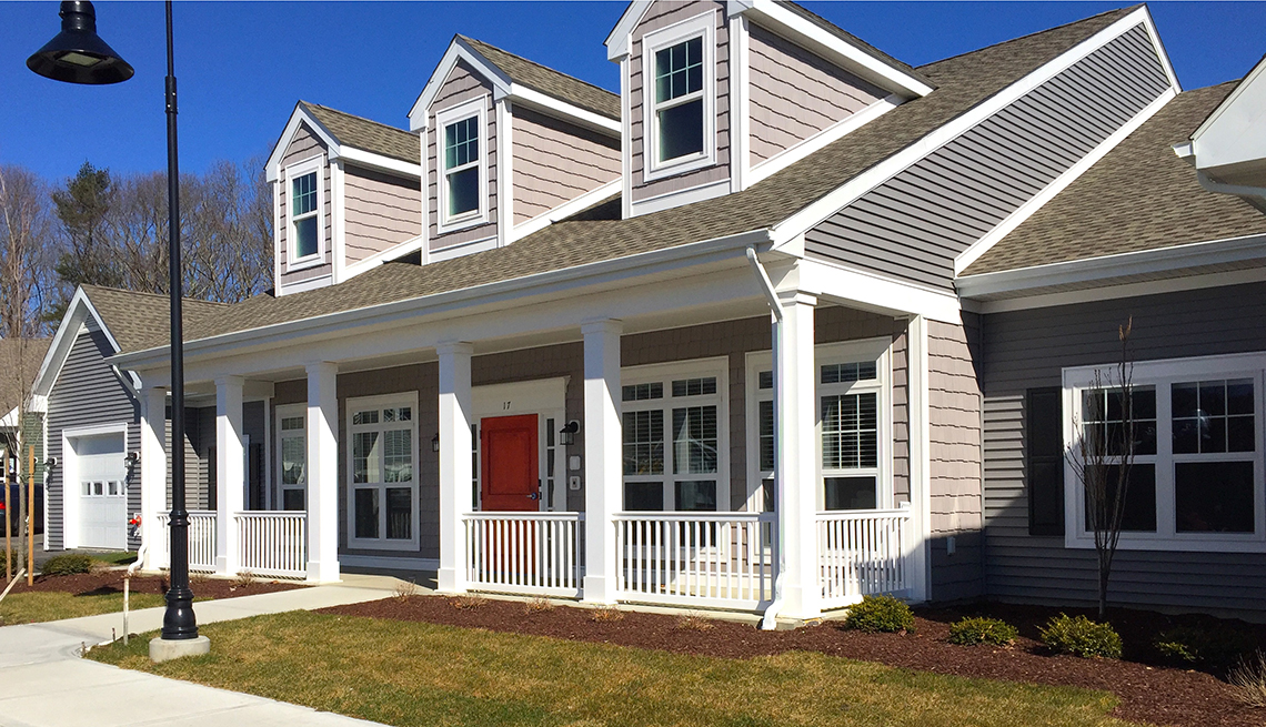 Exterior de la casa Green House Homes en Rhode Island