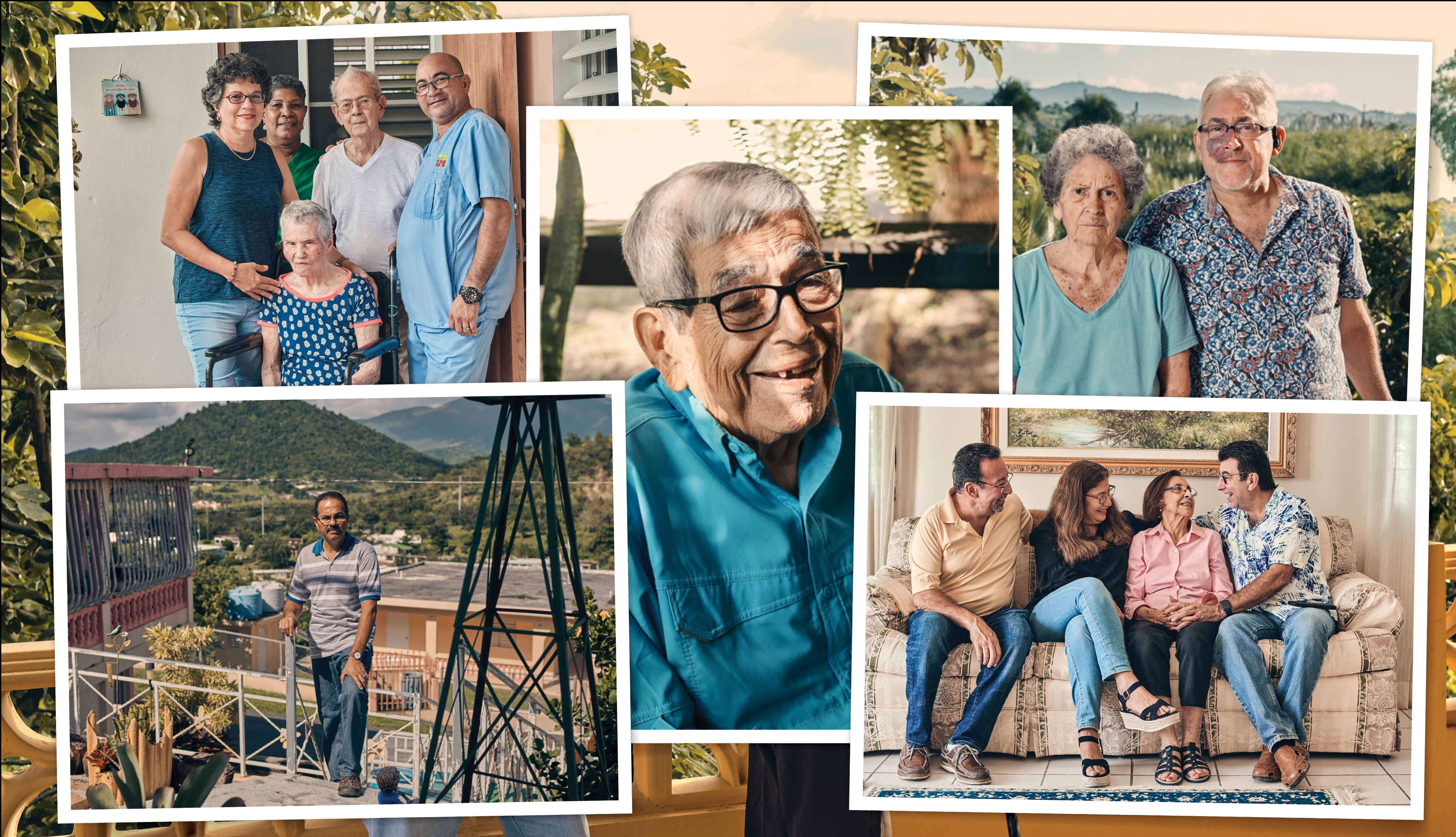 Varias fotos que muestran el reto de cuidar un familiar en Puerto Rico