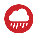 icon showing a rain cloud