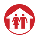 icono que simboliza la industria de los hogares de ancianos.