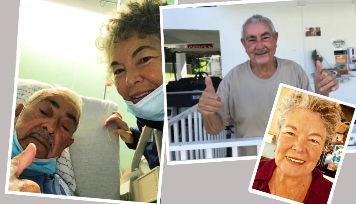 Un montaje de fotos de la Dra. Elsie Aquino-Gonzalez y su padre Rafael Aquino-Perez.
