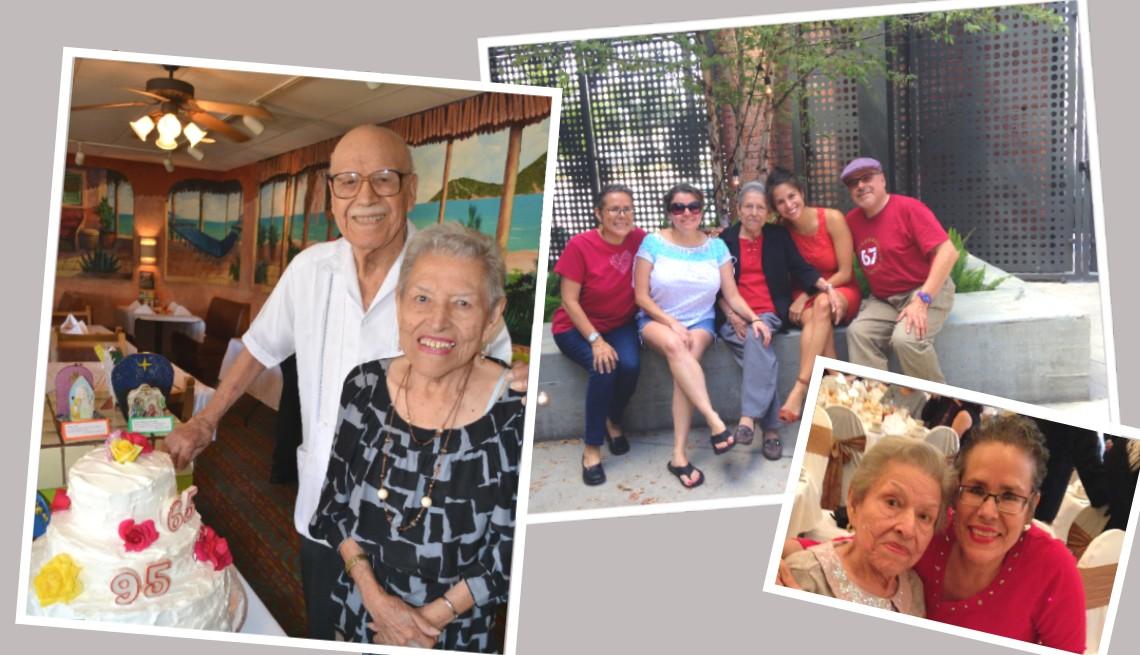 Foto montaje de imágenes de la familia de Katharine A. Díaz.