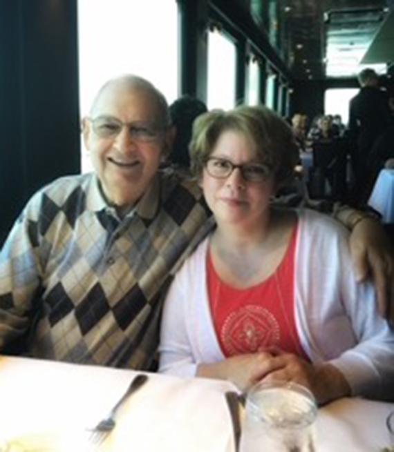 Melanie Benjamin y su padre, Lee Miller.