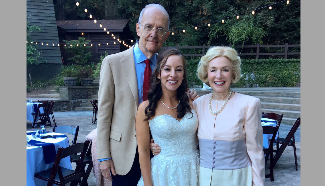 item 13 of Gallery image - Jim Owen with his wife and daughter on her wedding day