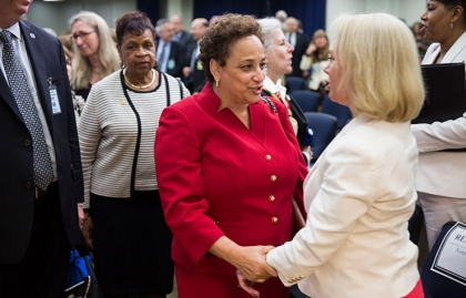 AARP CEO Jo Ann Jenkins with Nora Super, executive director of WHCoA