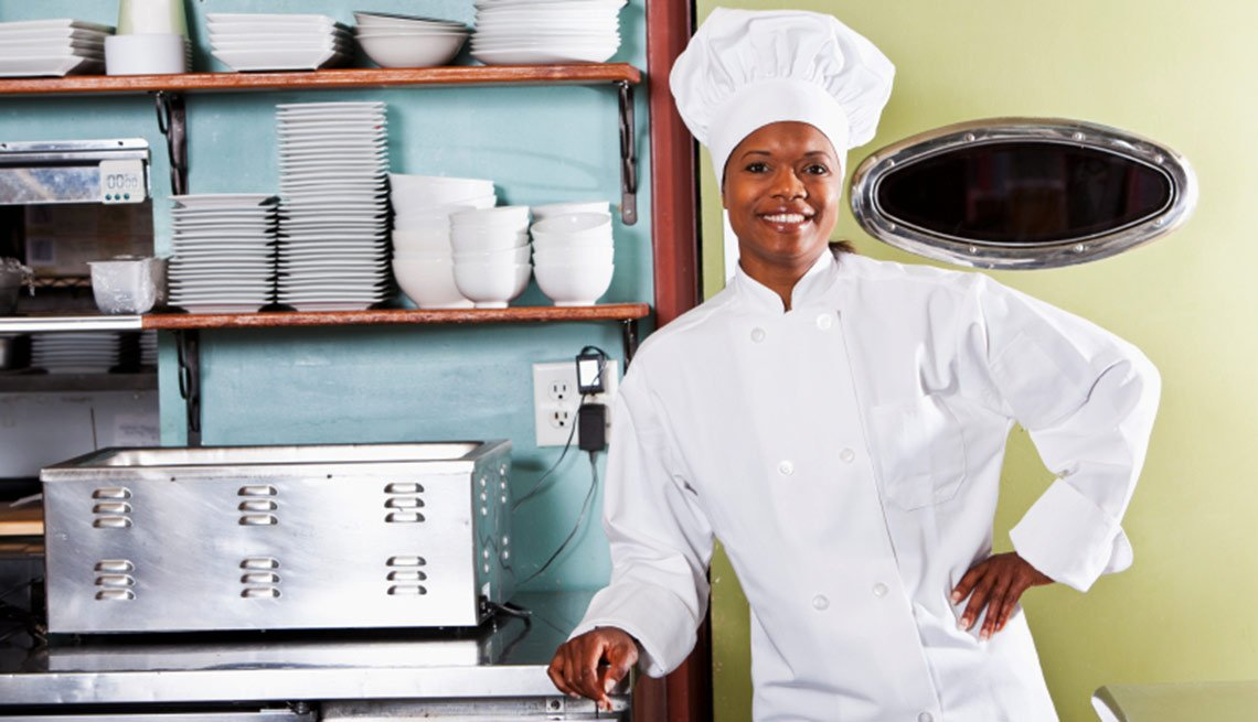 African American female chef, Experiences with Work