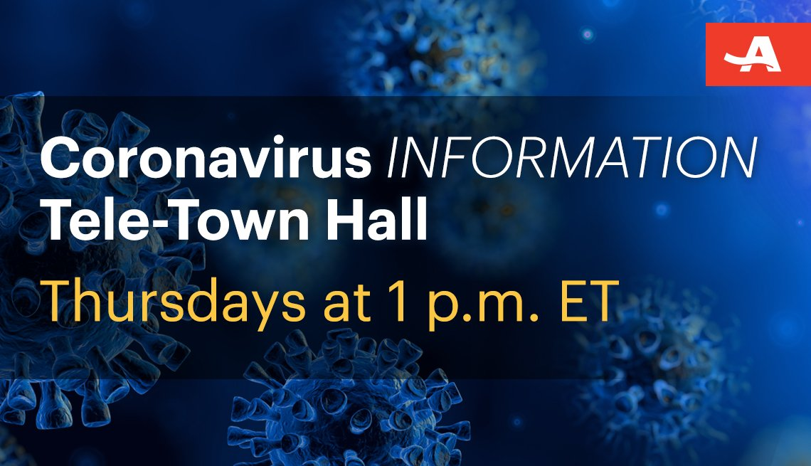 coronavirus information tele town hall thursdays at one p m eastern time