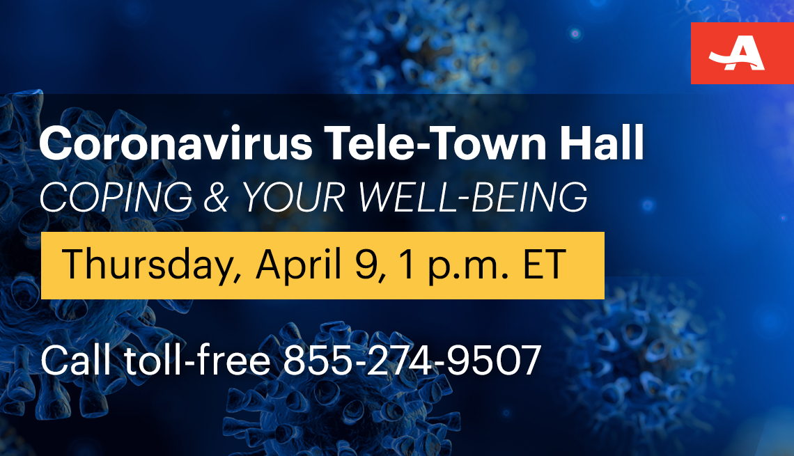 coping and your well being coronavirus tele town hall on april ninth at one p m eastern time