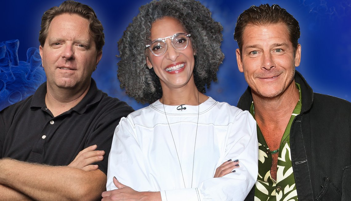 image of three home lifestyle personalities from left to right matt paxton carla hall and ty pennington