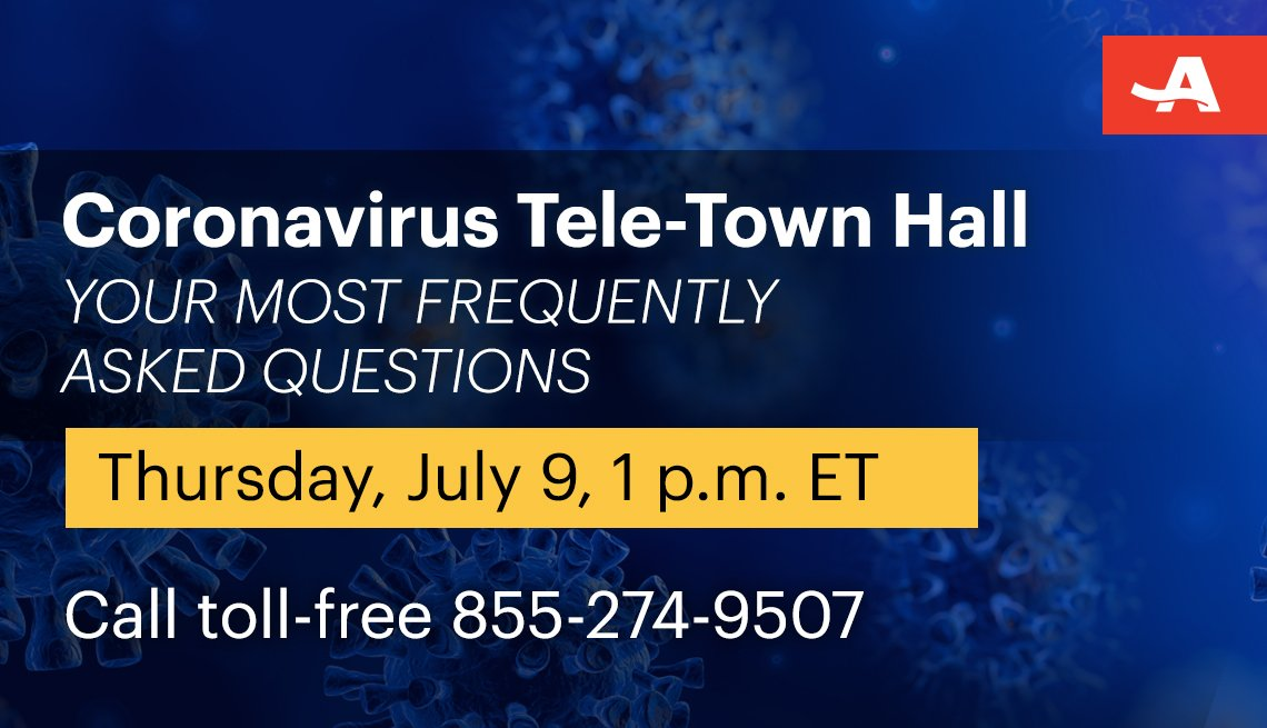 coronavirus tele town hall on your most frequently asked questions on thursday July ninth at one p m call toll free one eight five five two seven four nine five zero seven