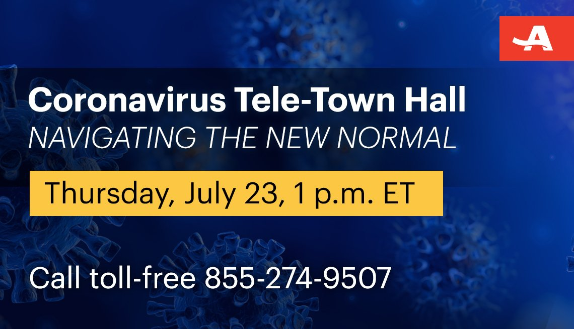coronavirus tele town hall on navigating the new normal on thursday July twenty third at one p m call toll free one eight five five two seven four nine five zero seven