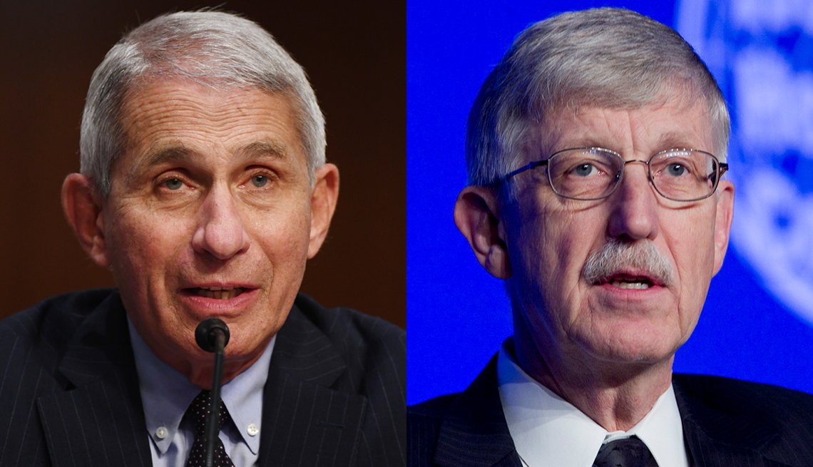 doctor anthony fauci and doctor francis collins both of the national institutes of health