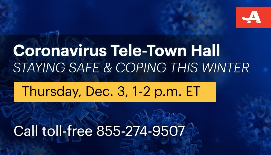coronavirus tele town hall on staying safe and coping this winter on thursday december third from one to two p m call toll free one eight five five two seven four nine five zero seven