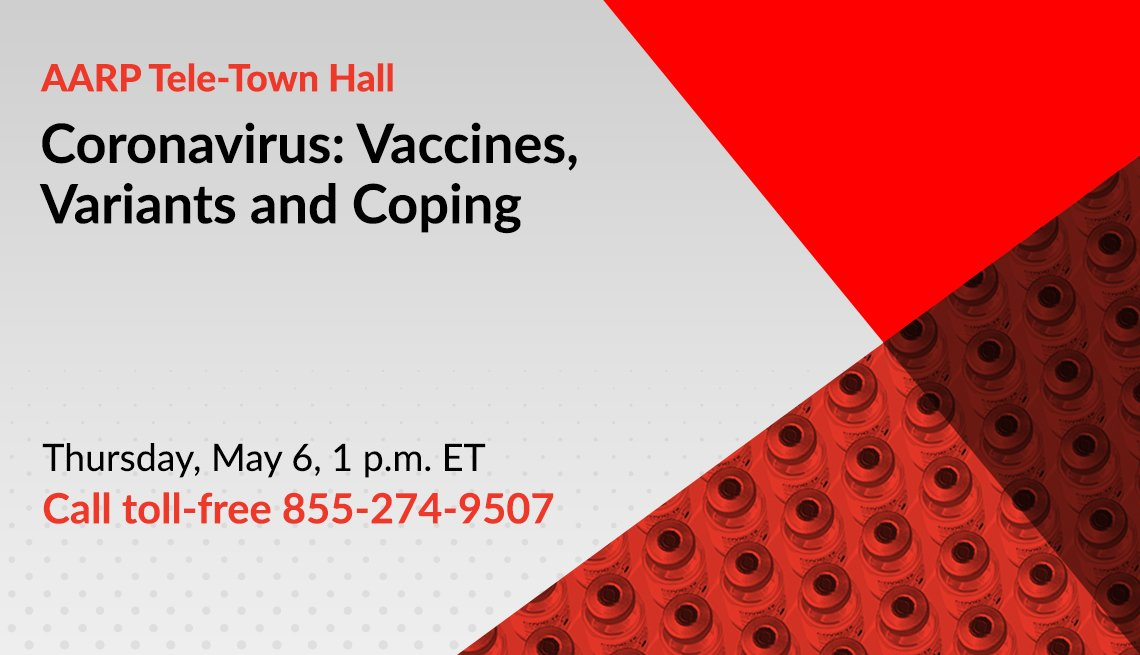 coronavirus tele town hall on your vaccine questions answered on thursday may sixth at one p m call toll free one eight five five two seven four nine five zero seven
