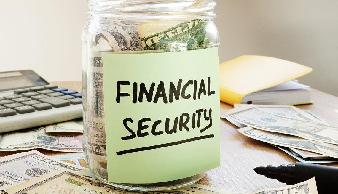 Financial security money jar