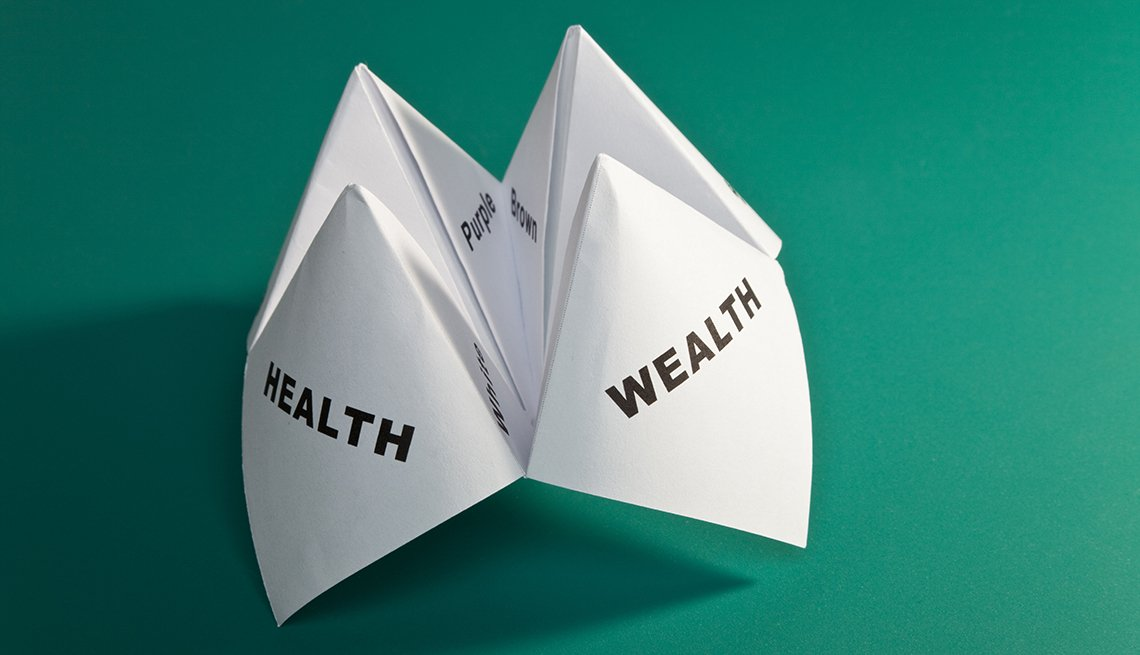 paper fortune teller health and wealth signs