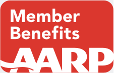 AARP Member Benefits logo grey