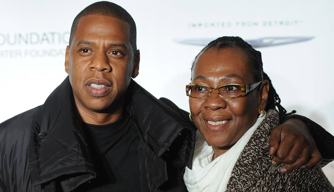 Jay-Z and his mother