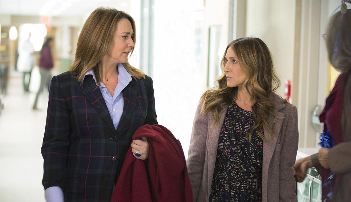 Talia Balsam and Sarah Jessica Parker in, 'Divorce'