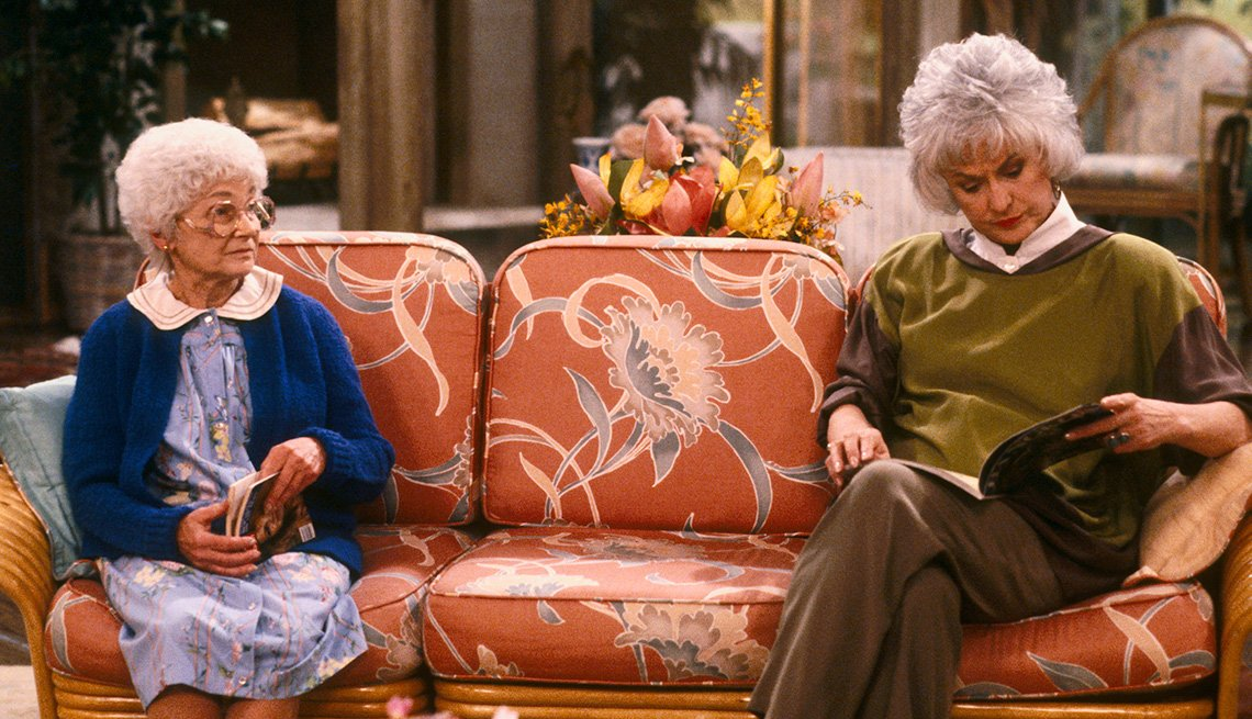 Estelle Getty and Bea Arthur in 'The Golden Girls'