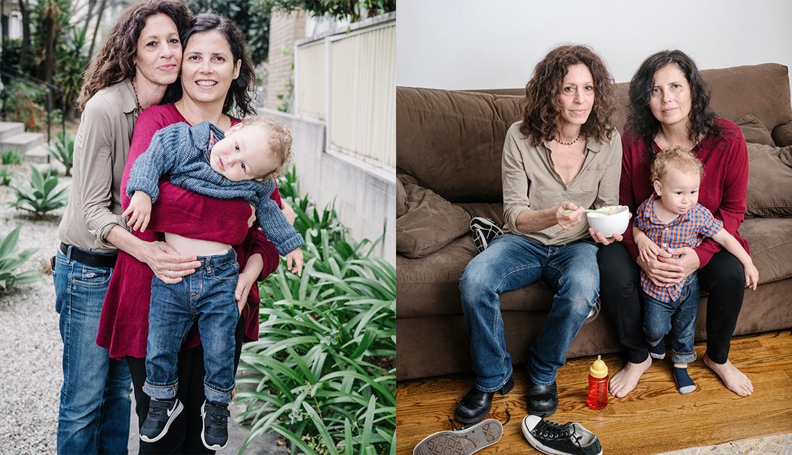Lorena and Carol bond with adopted son, Galileo