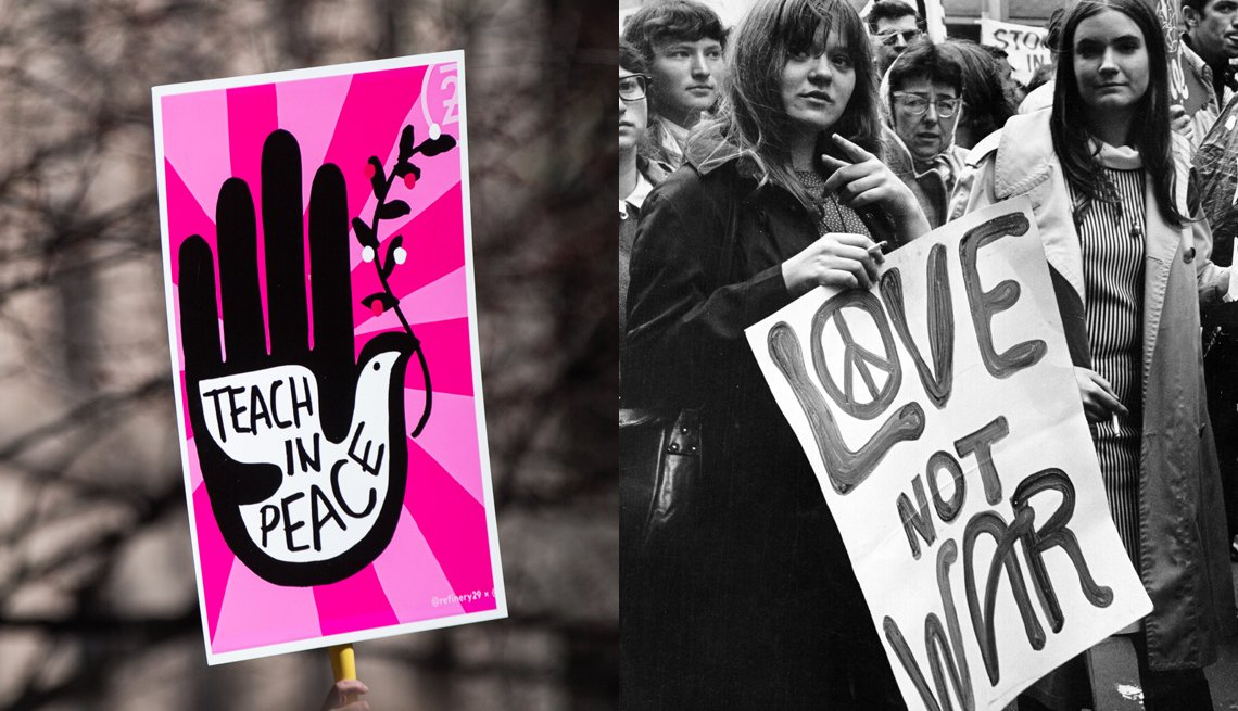 item 12, Gallery image. Photo by: Left: Jennah Moon/Bloomberg via Getty Images; Right: Michael Ochs Archives/Getty Images