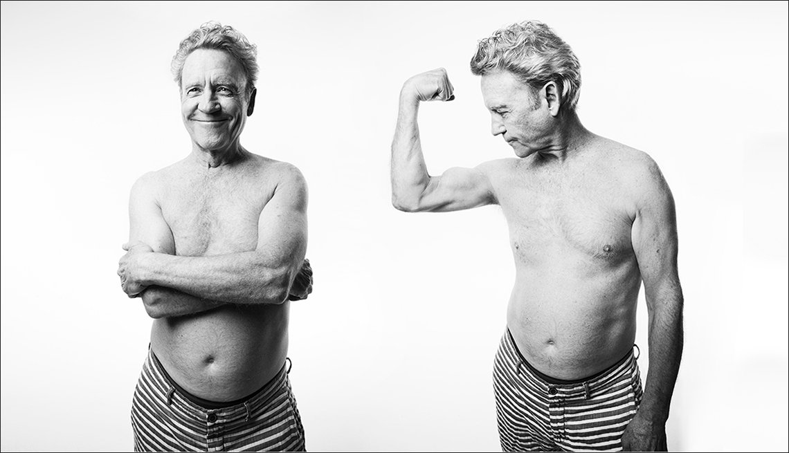 Two photographs of Tim Kirkpatrick