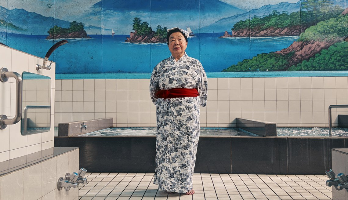 item 4 of Gallery image - Woman standing in a Japanese bathhouse