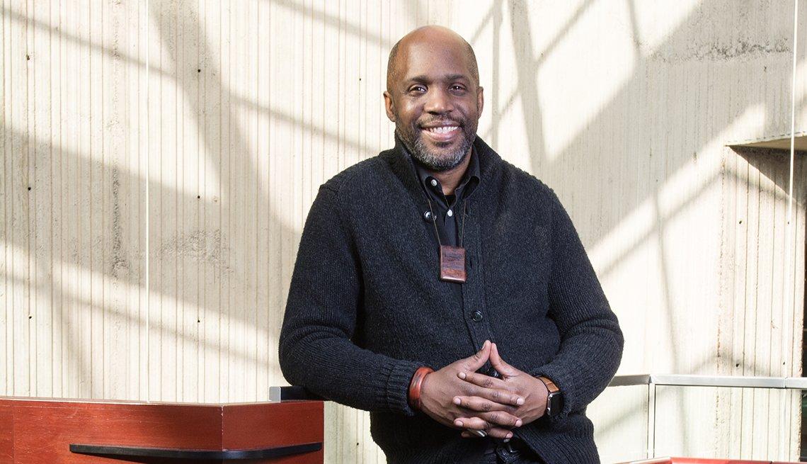 Curtis Lipscomb, LGBTQ activist, posing for a portrait