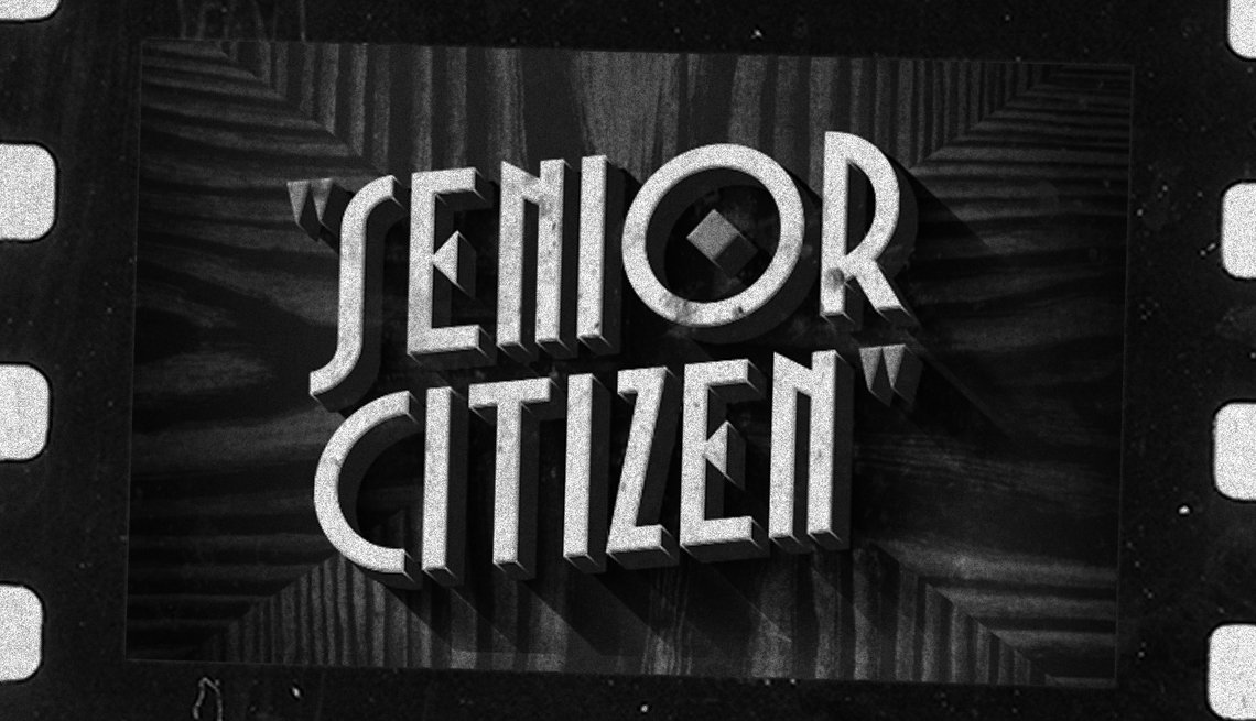 Senior Citizen written on a black background