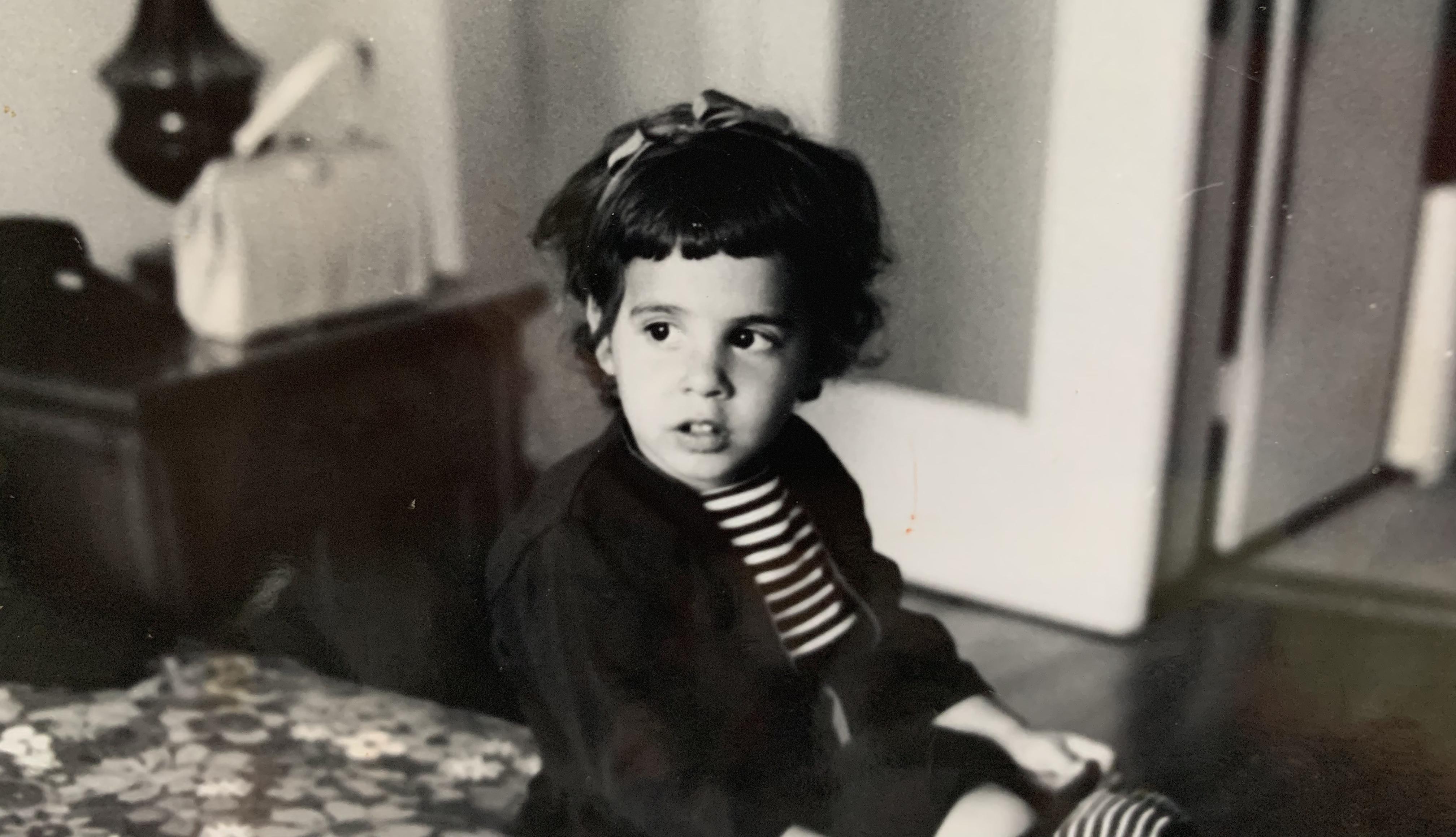 Laura Zinn Fromm as a child