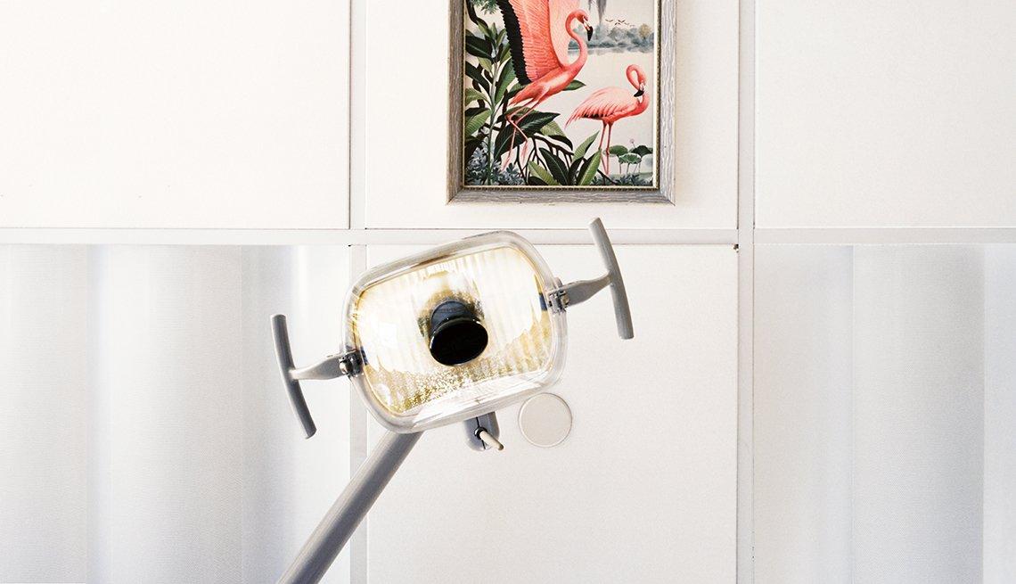 Light over a dentist chair