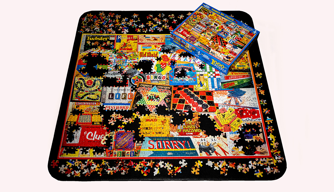 A completed jigsaw puzzle