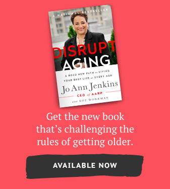 Disrupt aging book promo