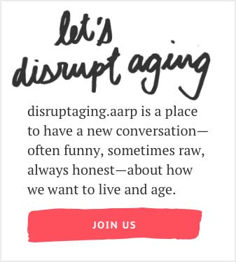 Let's disrupt aging graphic