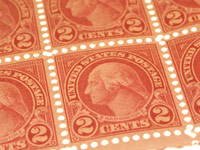 Shown are classic United States postage stamps