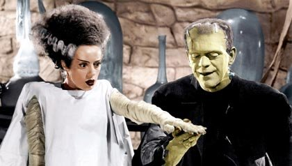 Una escena de Bride of Frankenstein, una de las 21 películas clásicas para ver.