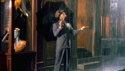 Una escena de Singing in the Rain, una de las 21 películas clásicas para ver.