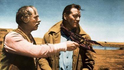 Una escena de The Searchers , una de las 21 películas clásicas para ver.