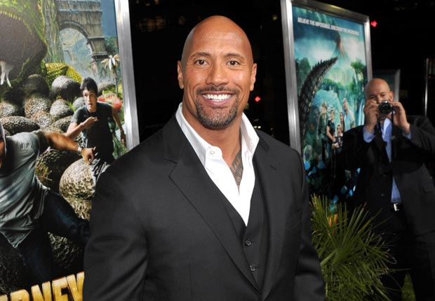 Dwayne Johnson arrives to the Journey 2: The Mysterious Island Los Angeles Premiere at Grauman's Chinese Theatre on February 2, 2012
