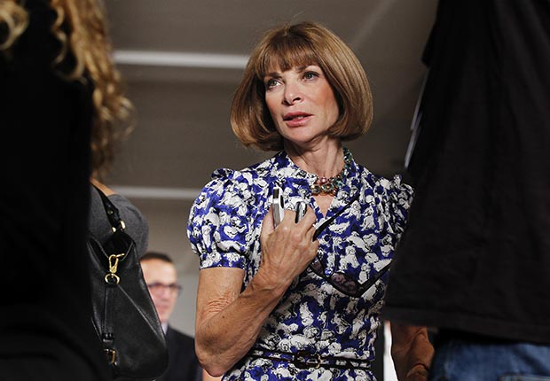 Anna Wintour attends Fashion Week 2012