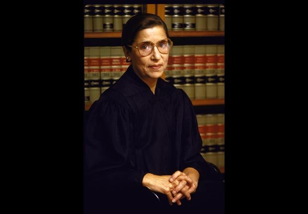 Judge Ruth Bader Ginsburg, 1984. For Power of 50/50 Year Careers.