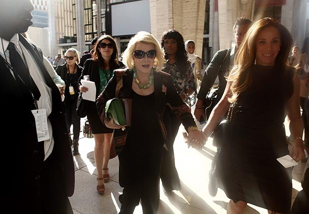 Joan Rivers attends Fashion Week 2012 in New York City with her daughter, Melissa.
