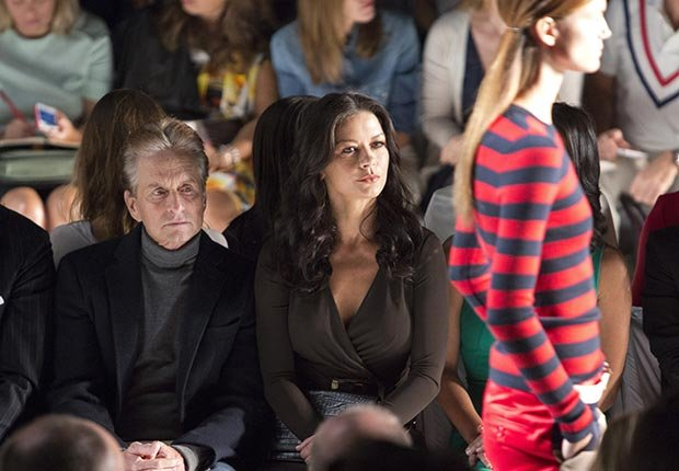 Michael Douglas and Catherine Zeta-Jones attend the Michael Kors show during Fashion Week in New York City