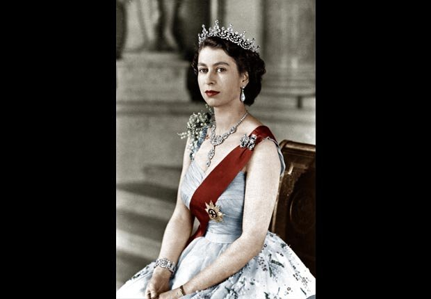 Queen Elizabeth II of England, 1952. For the Power of 50/50 year careers.